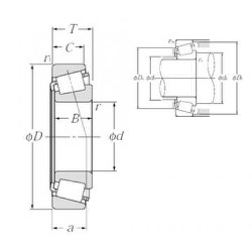 73,025 mm x 127 mm x 36,17 mm  NTN 4T-567/563 tapered roller bearings