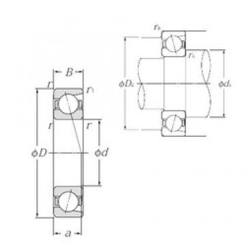 140 mm x 190 mm x 24 mm  NTN 7928 angular contact ball bearings