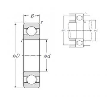 180 mm x 250 mm x 33 mm  NTN 6936 deep groove ball bearings