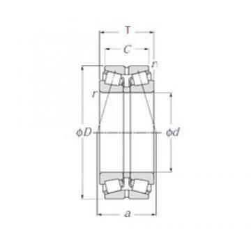NTN 4T-432208X tapered roller bearings
