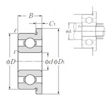 4,762 mm x 12,7 mm x 4,978 mm  NTN FLRA3 deep groove ball bearings