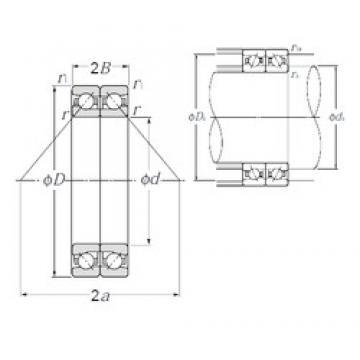 80 mm x 125 mm x 20,25 mm  NTN HTA016DB angular contact ball bearings