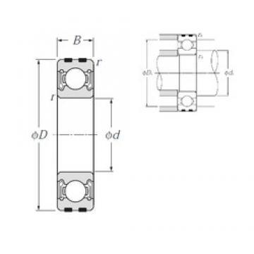 35 mm x 80 mm x 21 mm  NTN EC-6307LLB deep groove ball bearings