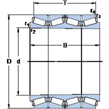 352.425 mm x 488.95 mm x 384.175 mm  SKF BT4B 332654/HA1 tapered roller bearings