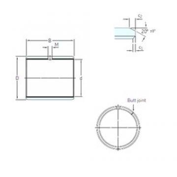 60 mm x 65 mm x 30 mm  SKF PCM 606530 M plain bearings