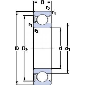 100 mm x 215 mm x 47 mm  SKF 6320-RS1 deep groove ball bearings