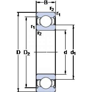 20 mm x 52 mm x 15 mm  SKF W 6304-2Z deep groove ball bearings
