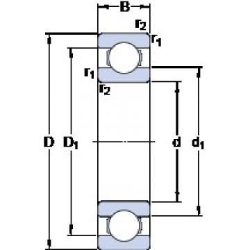 45 mm x 120 mm x 29 mm  SKF 6409 deep groove ball bearings