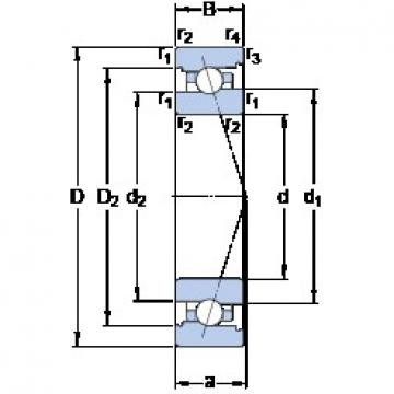 30 mm x 47 mm x 9 mm  SKF 71906 ACB/P4A angular contact ball bearings