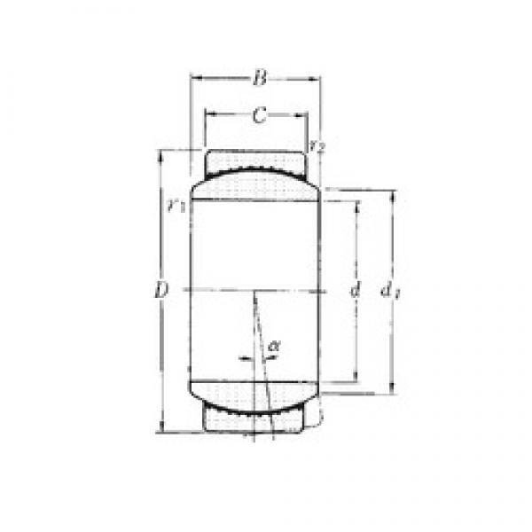 15 mm x 26 mm x 12 mm  NTN SAR1-15 plain bearings #2 image